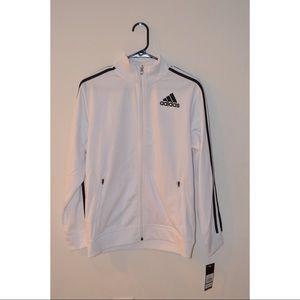 ⚡️BRAND NEW⚡️ White Adidas Zip-up Jacket